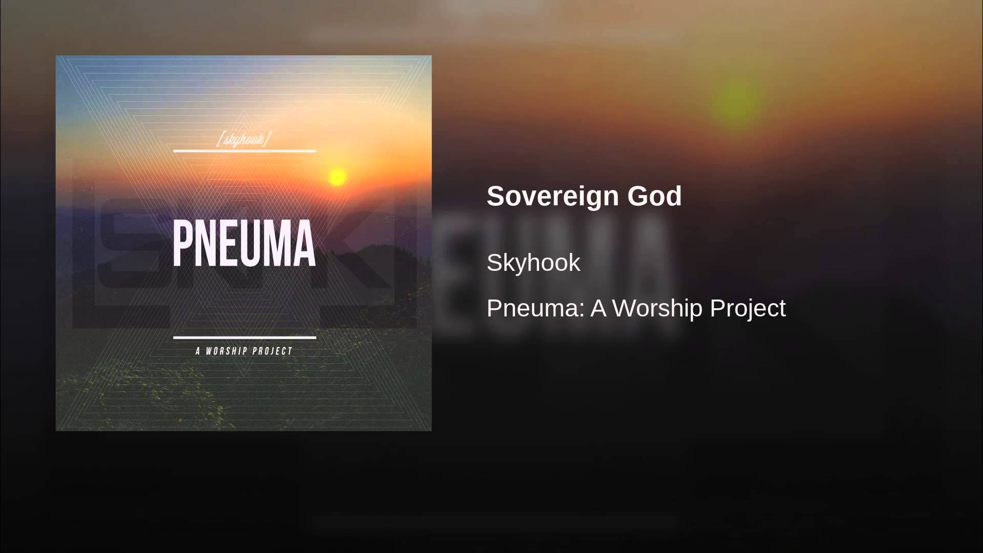Sovereign worship song